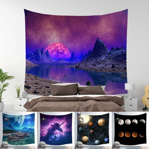 150*130cm Amazing Night Starry Sky Star Tapestry 3D Printed Wall Hanging Picture Bohemian Beach Towel Table Cloth Blankets DBC 64 M2