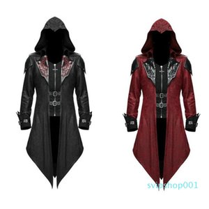 Retro Dress up Men's Clothing Coats Jackets European American Medieval Halloween Jacket Male Gothic Dark Costume For Man E2F863