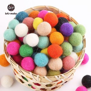 Let's Make Felt Balls Beads 200pcs lot Wool Felt Ball 20MM Multicolors Flocking Ball Wool Balls Jewelry Assorted Beads 201020