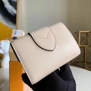 Classic Fashion Short Wallet Leather Unisex Logo Flip Wallet with Compartment Card Slots Coin Purse Vintage L Pont 9
