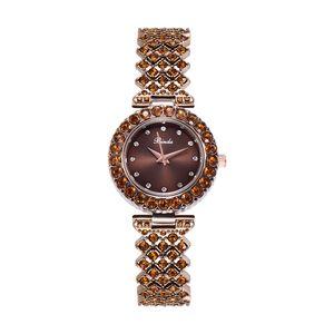Fashion set diamond luxury watch top temperament ladies quartz crystal bracelet leisure stainless steel waterproof watch free delivery