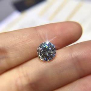 Round Moissanite white D VVS 1.00ct 6.5mm barestone custom Moissanite ring Pendants for naked diamond 201112