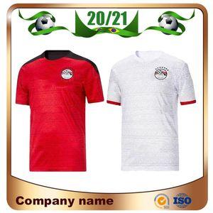 2020 이집트 홈 축구 유니폼 이집트 20/21 이집트 # 10 M.SALAH 축구 셔츠 멀리 A. HEGAZI 카 아라바 라마단 M.ELNENY 축구 유니폼