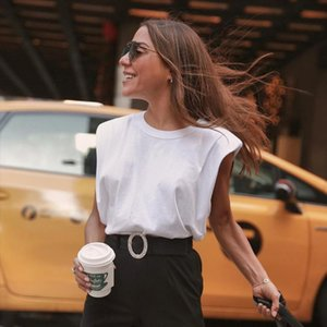 Summer Sleeveless Top Female O Neck White Women Blouse Shirt Ladies Loose Solid Casual Blouses blusas mujer de moda 2021 Fashion