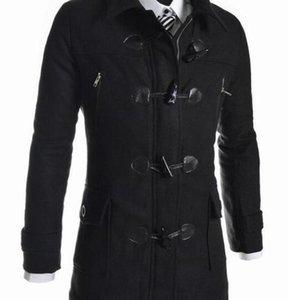 Мужчины Windbreaker Куртка Павром для человека Зима Высокое Качество Мужская Шерстяная Кнопка Шерстяная Кнопка Случайные Пальто Мода