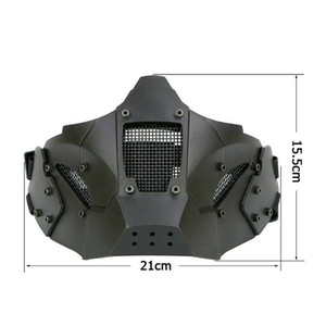 Areyourshop Face Mask New Tactical Half Face Paintball Mask Metal Steel Mesh Tactical equipment Accessories Parts