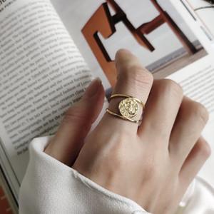 Silvology 925 en argent sterling sirène Anneaux d'or ronde Cheveux longs anneaux Creative élégant pour Charm femmes Bijoux mode cadeau 201110