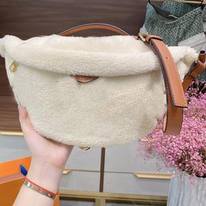 Winter Chest Pack Belt Waist bag Teddy Plush Fannypack Women Crossbody Shoulder Bag Purse Old Flower Fuzzy Handbag Wallet Outdoor Waistpacks
