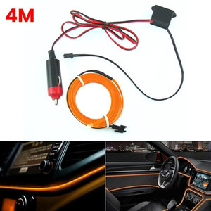 4M 3 Colors Cool Line Car Lights Interior Decoration Moulding Trim Strips For Motorcycle Cars Ambient Light