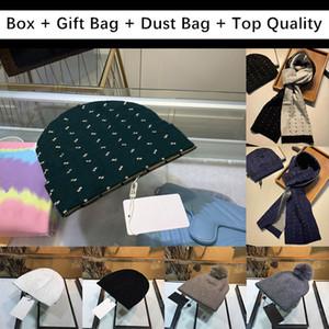Pour cadeau avec boîte cadeau sac hommes femmes crânes crânes bonnet beanie chapeau hiver hommes tricotés chapeaux chapeaux top qualité chaude chapeau chaude durag bonnets gorros