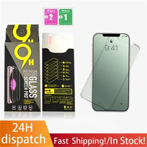 Protezione schermo per iPhone 12 Mini Pro Max 11 XR XS Max 7 8 Plus Glass Temperato per Pellicola Protector Samsung con consegna al dettaglio Consegna rapida