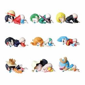 6cm Anime One Morceau Figure Drôle Luffy Luffy Chopper Sanji Roronoa Zoro Nami Usopp Nico Robin PVC Action Figure Modèle Jouet Y1221