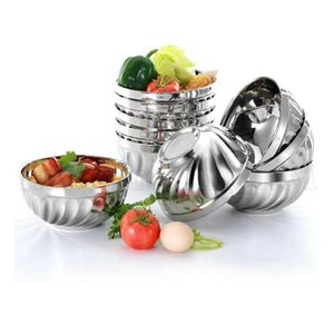 Double Layer Stainless Steel Rice Bowl 12cm 14cm 16cm 18cm Heat Insulation Anti Scald Bowl Kitchen Noo sqcDAX homes2011
