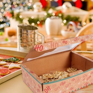 12 24pcs Kraft Paper Christmas Cookie Gift Boxes Santa Claus Gifts Bags Merry Christmas Decoration Package Box New Year 2021 sqcORJ