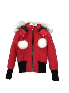 Down jacket pilot short white duck down female fox fur collar fashion casual all-match down warm jacket