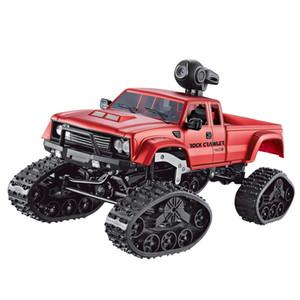 1시 16분 RC 트럭 픽업 트럭 등반 자동차 0.3MP HD 와이파이 카메라 버기 어린이 장난감 4WD 더블 모터 빅풋 트럭