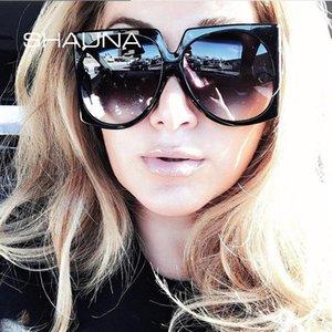 Estilos Moda UV400 Oversize Sunglasses Shauna Shades Quadrado Gradiente Verão Mulheres BSBGS
