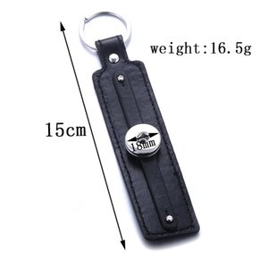 Vintage PU en cuir Snap Keychain Keychain Keychains KeyRings Fit Diy 18mm Snap Boutons Bijoux Bijoux Lanyard Pendentif Q Jllnef