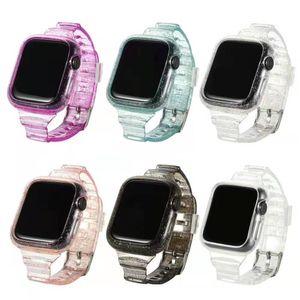 TPU Blitter Blanking Blinding Brap Band + Bumper Case для Apple Watch Iwatch 6 5 4 3 2 38 мм 40 мм 42 мм 44 мм