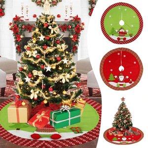 Il Babbo Natale del pupazzo di neve a tema rotonda di Natale Xmas Tree Skirt Carpet Mat Party Favors Articoli per la casa ornamento decorazione 42 Pollici ELOV