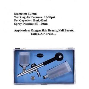 Double Pots Tattoo Supplies Airbrush Spray Handpiece Deep Skin Cleaning Oxygen Spray Pen Aqua Oxygen Handpiece 20ml 40ml