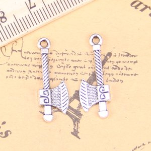 126pcs Jewelry Charms ax tomahawk 27x10mm Antique Silver Plated Pendants Making DIY Handmade Tibetan Silver Jewelry