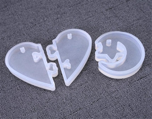 UV Resin Valentine Jewelry Liquid Silicone Mold Love heart Resin Charms Pendant Molds For DIY Decorate Making Jewelry