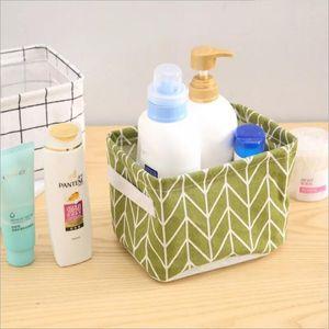 Plaid Container Basket Bucket Organizer Laundry Bag Storage Box Bin Desk Sundries Folding Cartoon Printing Bags