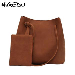 NIGEDU марочные Матовый кожа женщин сумки и кошельки Новая зимняя женская сумка Большие дамы емкость тотализаторов Crossbody сумки