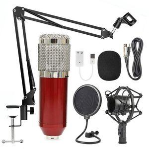 hot bm 800 studio recording condenser podcast microphone mic kit set bm800 professional usb radio desktop for pc computer Newest
