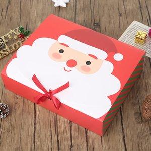 La víspera de Navidad de Santa Claus Gran Hada Diseño Kraft Papercard que partido presente regalo del favor de la Actividad Red Box verdes paquete cajas de DHL ZZF2189