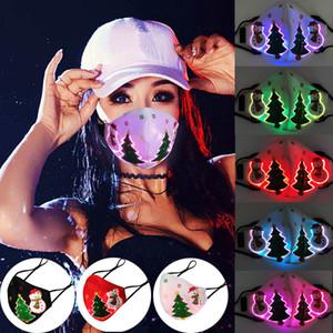 Mascarilla brillante activada por voz de Navidad 7 colores luminosas led máscaras faciales para festival de fiesta de navidad masquerade máscara rave