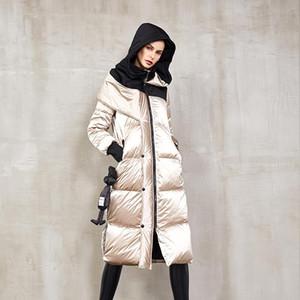 Eva Liberté 2020 Hiver New Coat genou européen et américain femmes de Bright visage long Fashion Doudoune femme