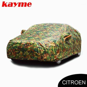 Kayme waterproof camouflage car covers outdoor sun protection cover for c3 5 c4 Picasso elysee c4l1