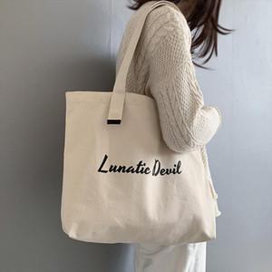 Womens Canvas Shopping Bag Female Handbag Cloth Tote Bag For Women 2019 Cotton Ladies Shoulder Big Shopper Beach Travel