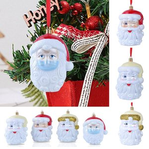 2020 3D Resin Christmas Oranment Xmas Tree Hanging Ornament Survivor Family Social Distancing Santa Claus Pendant Party Decoration HH9-3426