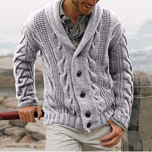 New Winter Autumn Middle-Long Mens White Sweater Cardigan Trench Male Autumn Warm Jacket Coat Sweater Male Winter