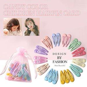 10-40pcs Children Cute Color Hairclip Head Jewelry Drop-shaped Clip Hair Accessories Baby Clip Cute Fashion Hairpin Dropshipping1