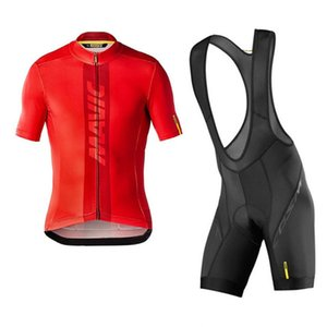 Men Mavic Team Summer Cycling Jersey Suit Short Sleeve Racing Clothing Road Bike Outfits Quick Dry Mtb Bicycle Uniform Outdoor Sportswea