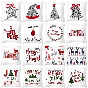 HUIRAN cushion Decorative Pillowcase sofa cushions cases Christmas Decoration For Home Decor Pillow cover