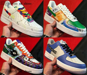 size us eur vulcanized force 35 mens women casual shoes af1 one 1 5 men trainers Sneakers airforce with box forces 12 46 air white baskets