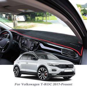 Car Styling Dashboard Avoid Light Pad Instrument Platform Cover Mat Rose For T-ROC 2017-Present LHD&RHD Anti-Dust Mat1