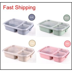 New Natural Material Lunch Bento Box Food Heated Thermos Container For Children Adults Kid Ki qylCek homes2011