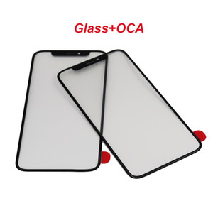 2in1 Glass+OCA LCD Touch Screen Outer Glass Cover With 250um OCA For iPhone X XS XS Max 11Pro 11Pro Max Mobile Phone Touch Panel