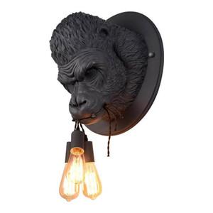 İskandinav LED Duvar Lambası Orangutan Bite Hattı Lambası Yaratıcı yatak odasında ev Dekorasyon Işık Salon duvar lambası Cafe Bar Aydınlatma