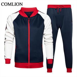 Primavera Outono Mens Tracksuit Set Brand New 2 Parte Sets Esportes Terno Casaco + Calças Sweatsuit Masculino Patchwork Roupas Tamanho S-5XL