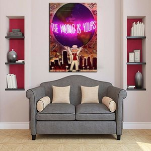 The world is yours Alec Monopoly Home Decor Handpainted &HD Print Oil Painting On Canvas Wall Art Canvas Pictures 201008