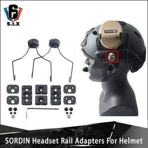 Adaptador para montaje táctico Sordin Auriculares Guía de adaptación para el casco ARC Accesorio Kit para Peltor Sordin auriculares y M300 M600 Luz
