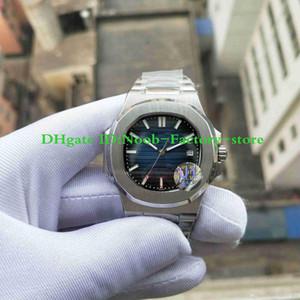 2 Colors U1 Factory Mens Automatic Movement 40mm Watch Blue Black Dial Classic 5711 1A Watches Transparent Back Wristwatches Original Box