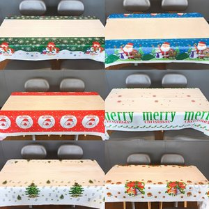 110*180cm Natal Christmas Tablecloth PVC Tablewear Ornaments New Covers Table Christmas Xmas Disposable WXM Year Decorations BH4335 Mer Fwer